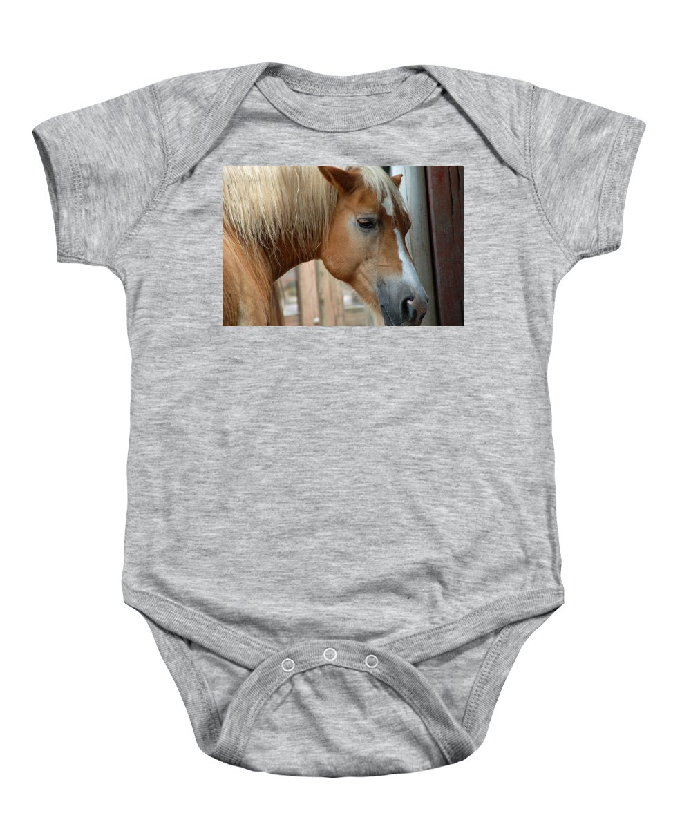 Horse Baby Onesie featuring the photograph Sweet Face by Aimee L Maher ALM GALLERY