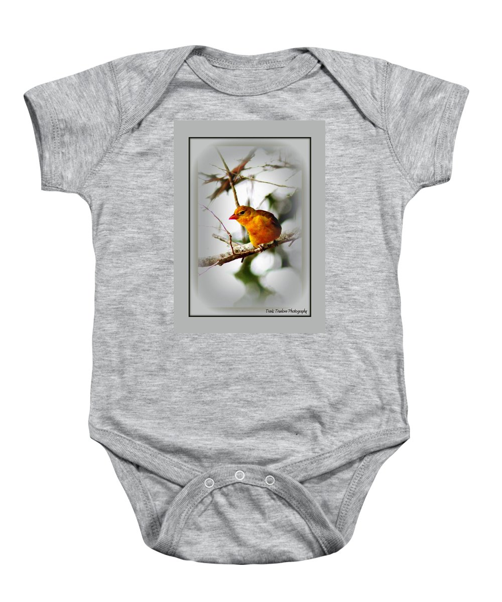Tanager Baby Onesie featuring the photograph Tanager 4296-ttp by Travis Truelove