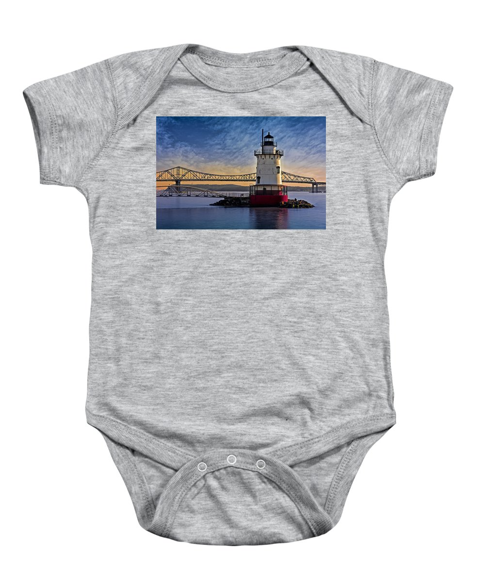 Empire State Baby Onesie featuring the photograph Tarrytown Light by Susan Candelario
