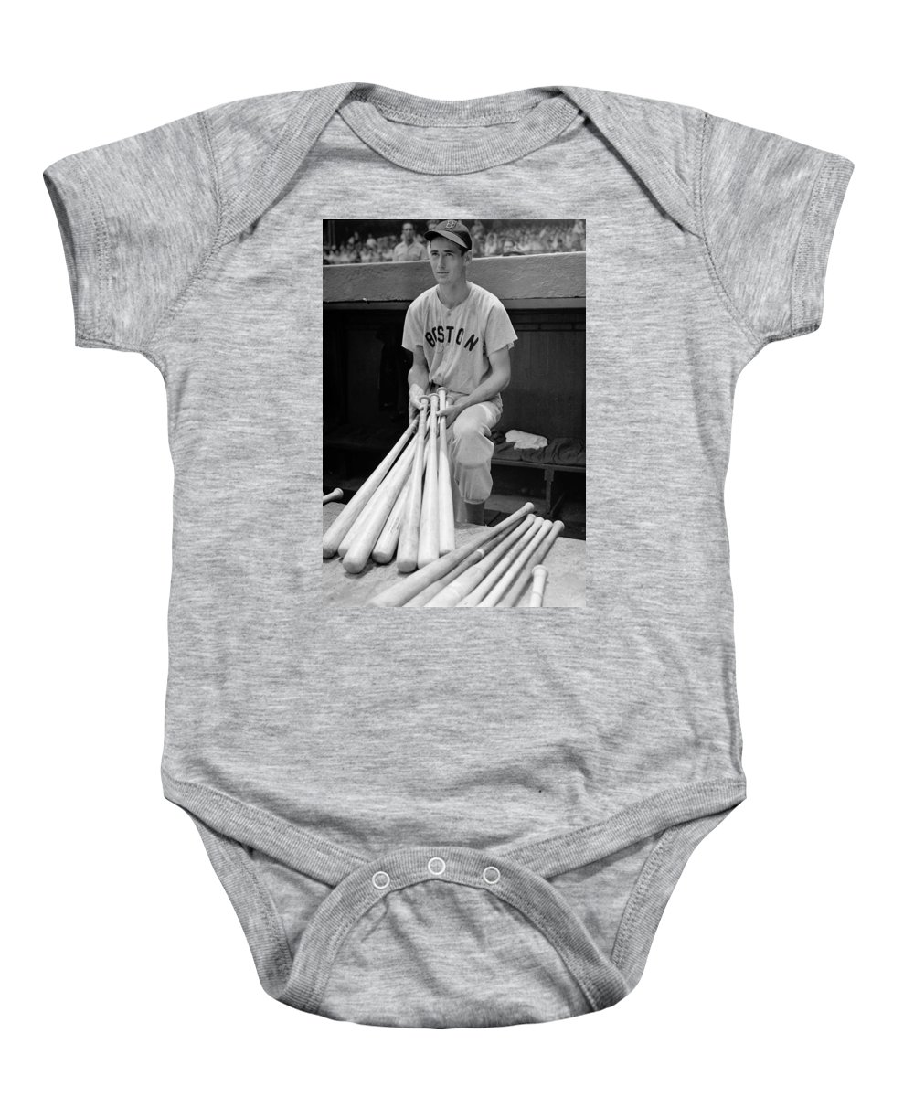 Ted Baby Onesie featuring the photograph Ted Williams by Gianfranco Weiss