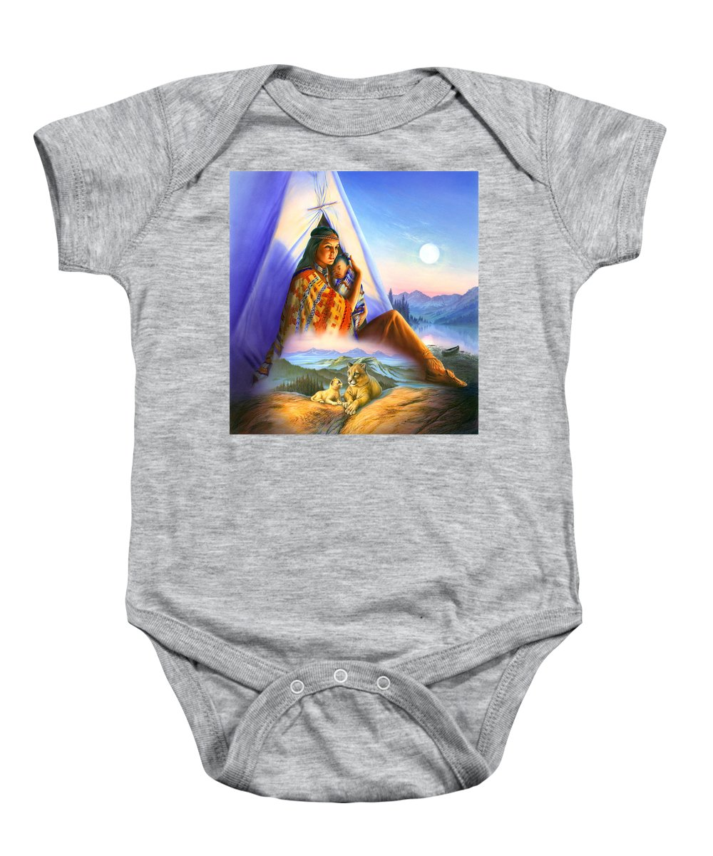 Andrew Farley Baby Onesie featuring the photograph Teepee Of Dreams by Andrew Farley
