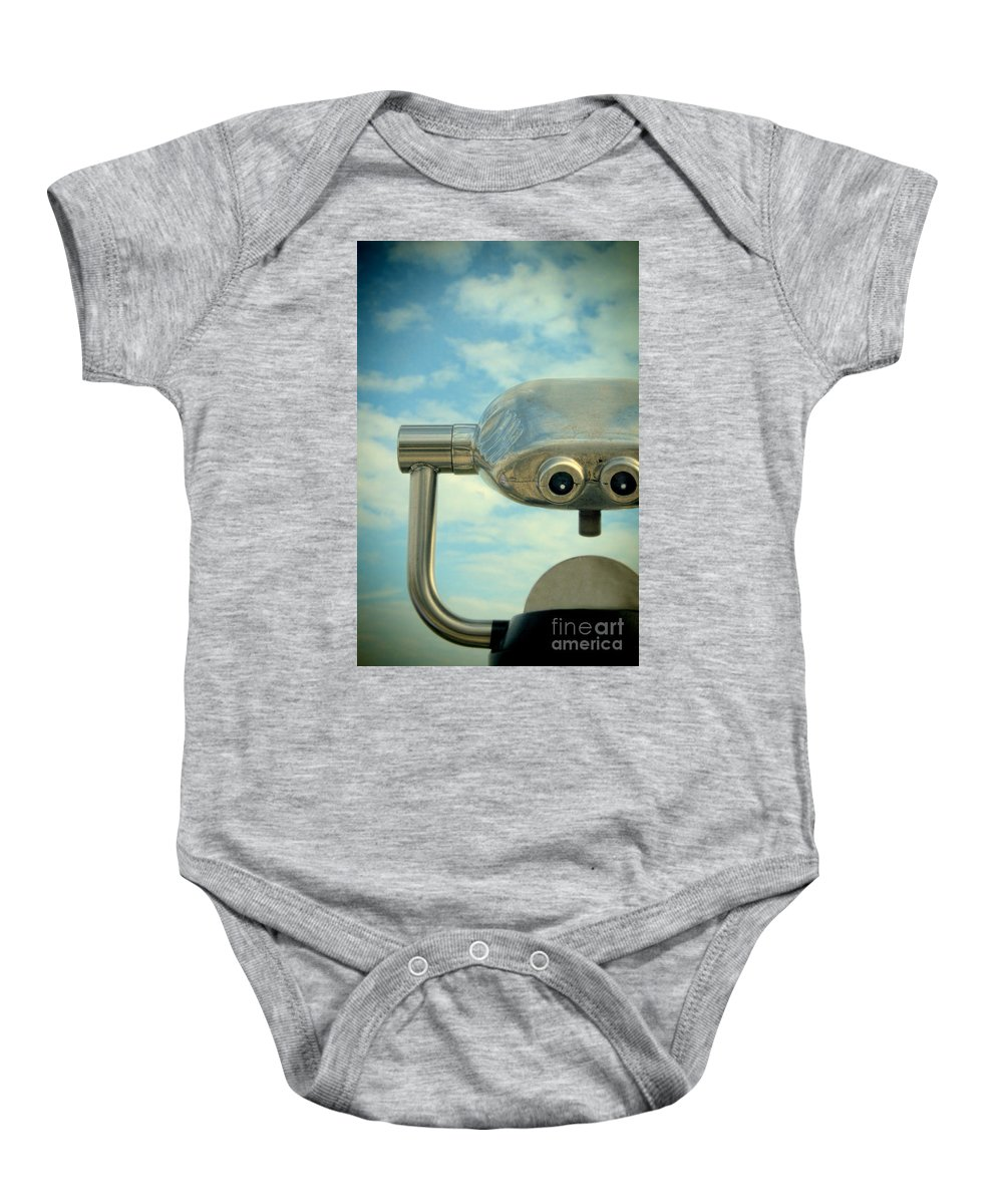 View Baby Onesie featuring the photograph Telescopic Viewer by Jill Battaglia