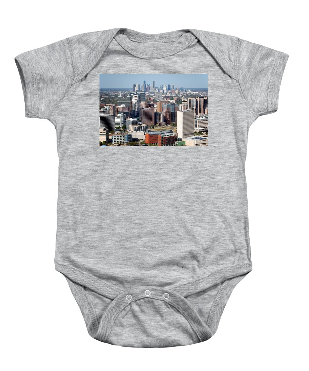Houston Baby Onesie featuring the photograph Texas Medical Center In Houston by Bill Cobb