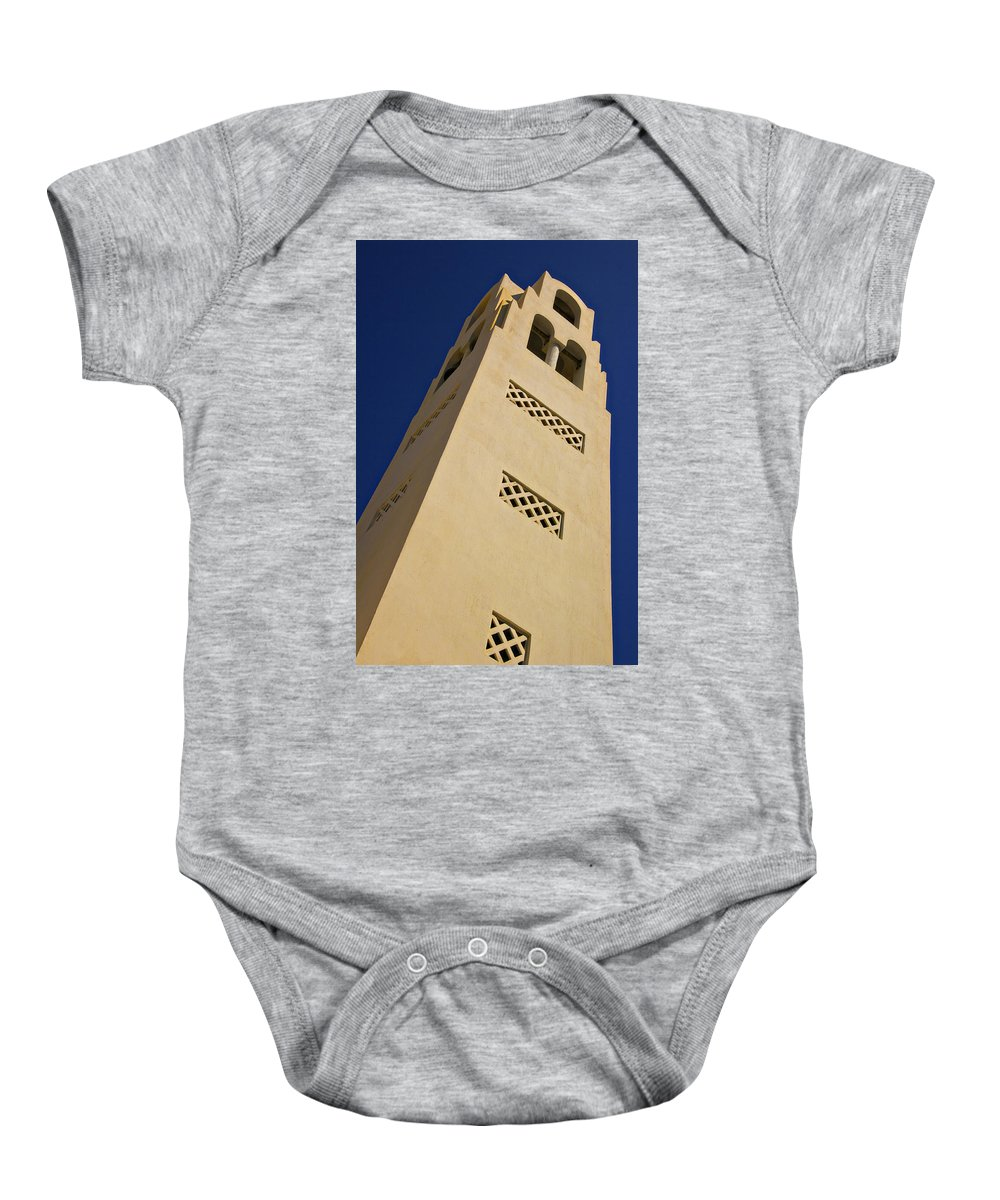 Church Baby Onesie featuring the photograph The Bell Tower by Meirion Matthias