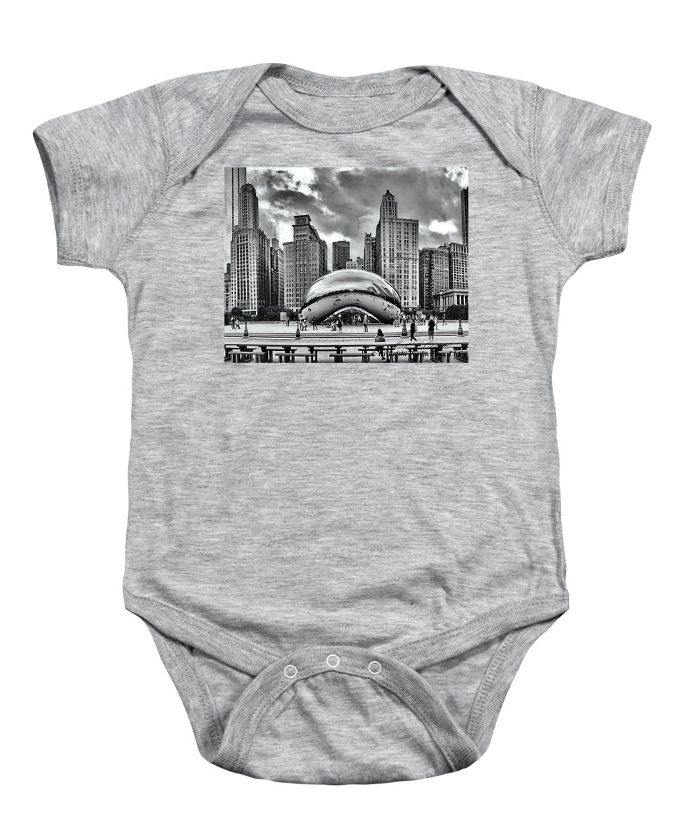 Sky Scrapers Baby Onesie featuring the photograph The Chicago Bean II by Mark Olshefski