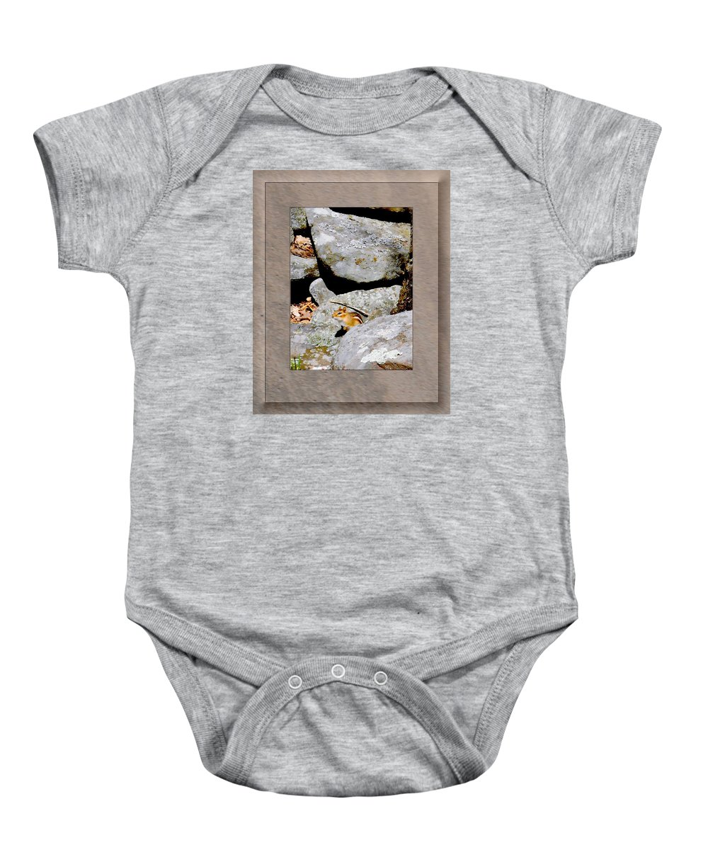 Chipmunk Baby Onesie featuring the photograph The Chipmunk by Patricia Keller
