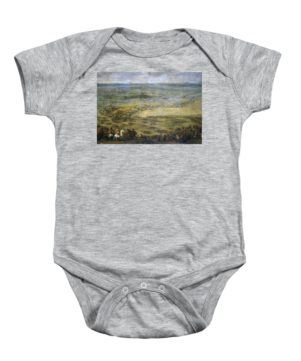 Pieter Snayers Baby Onesie featuring the painting The Conquest Of Lleida by Pieter Snayers