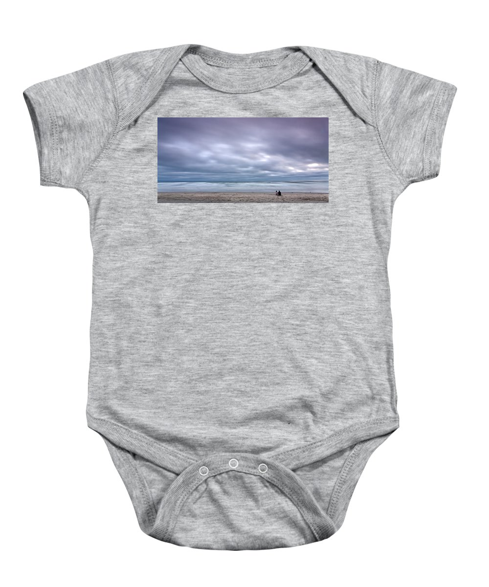 Beach Baby Onesie featuring the photograph The Couple by Peter Tellone
