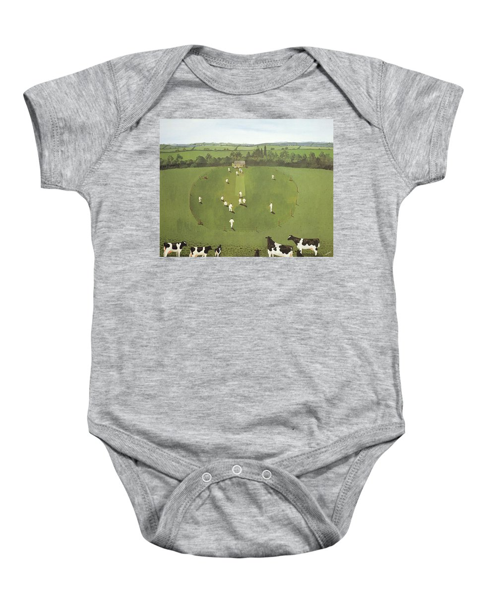 Contemporary Baby Onesie featuring the photograph The Cricket Match by Maggie Rowe