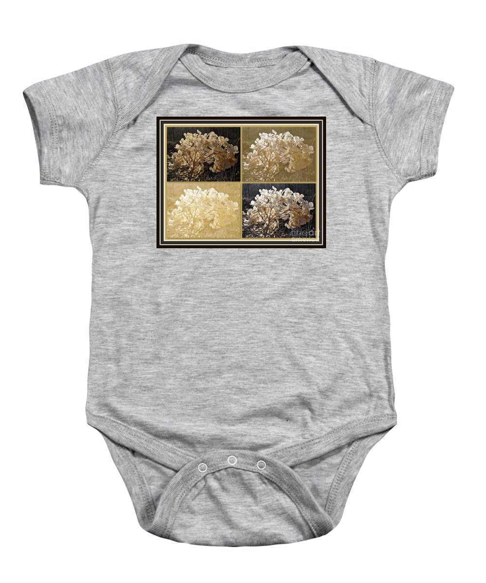 Collage Baby Onesie featuring the photograph The Delicate Remains Of Winter by Mother Nature
