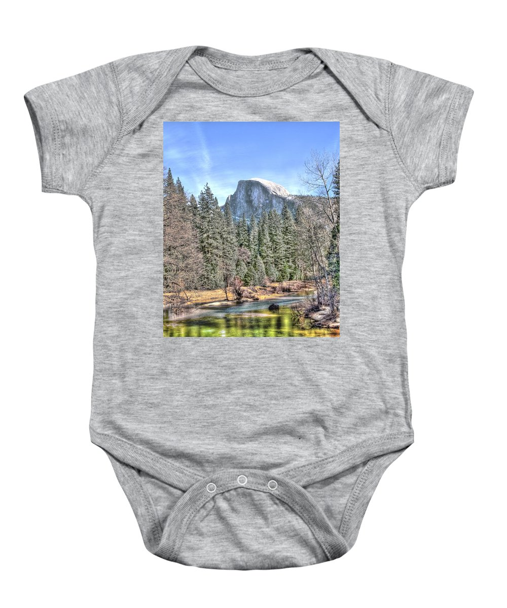 Merced River Baby Onesie featuring the photograph The Dome by Bill Gallagher