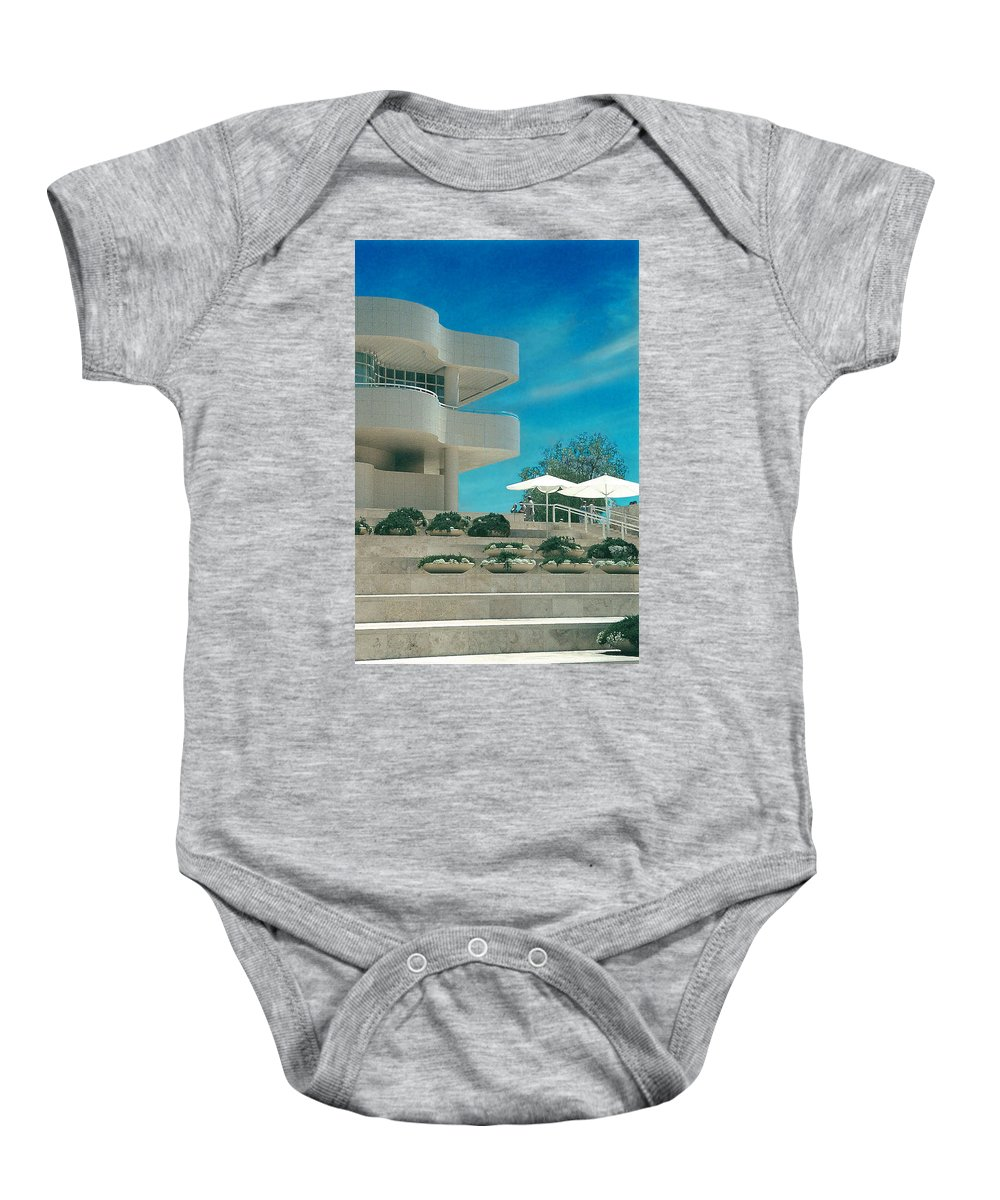 Landscape Baby Onesie featuring the photograph The Getty Panel 1 by Steve Karol