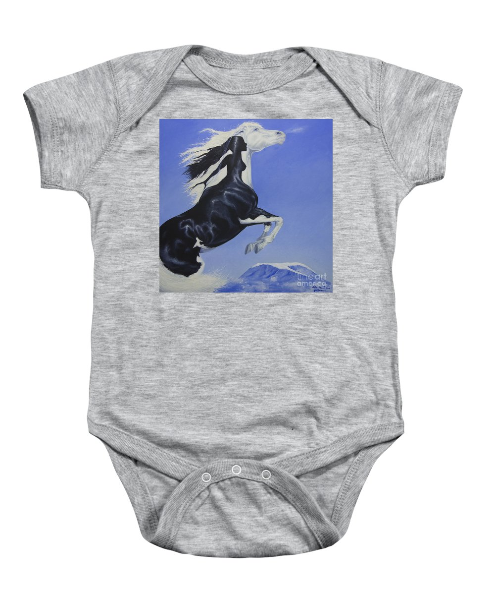 Paint Baby Onesie featuring the painting The Goddess Within by Louise Green