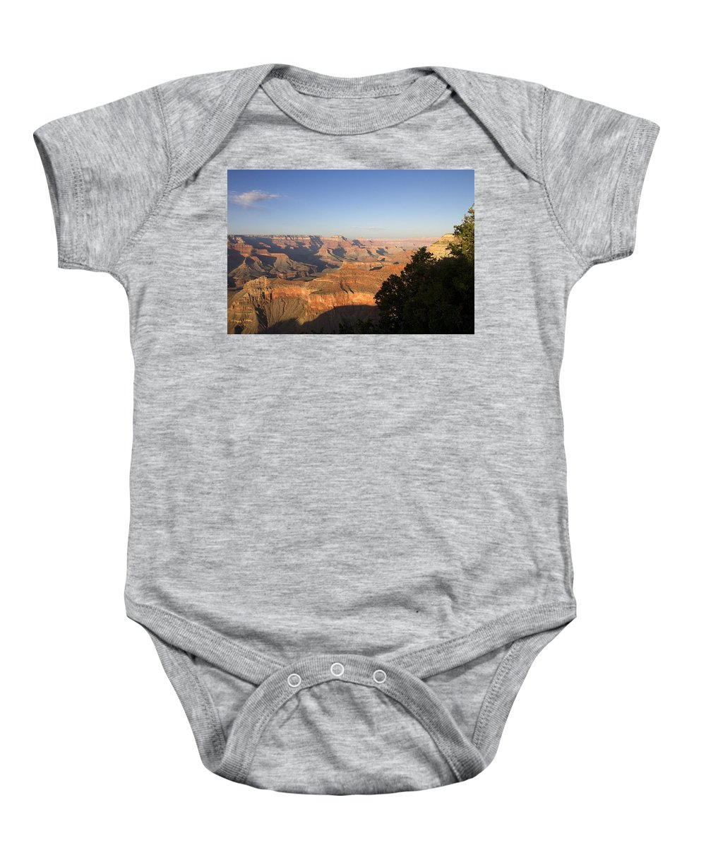 The Grand Canyon Baby Onesie featuring the photograph The Grand Canyon Towards Sunset by Peter Lloyd