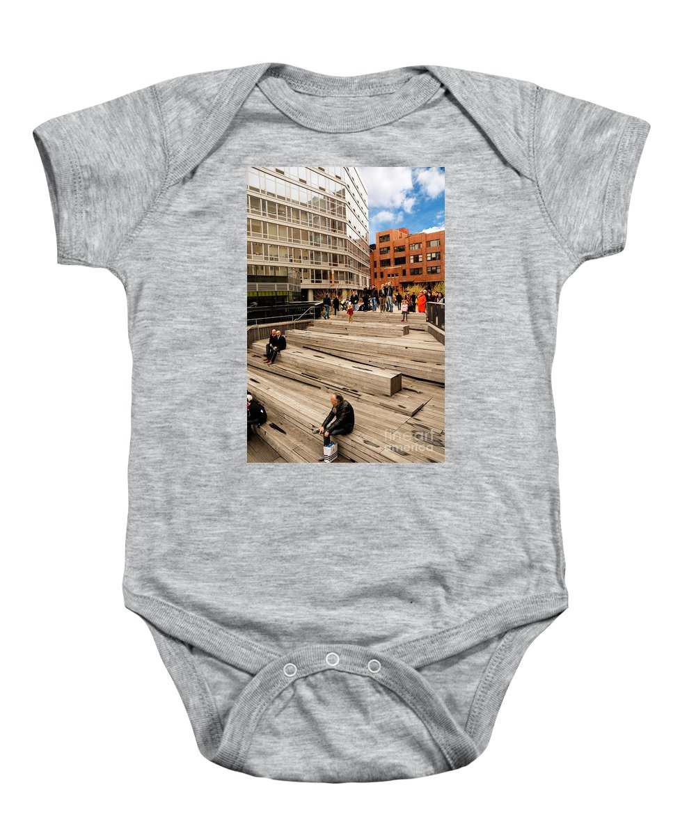 Chelsea Baby Onesie featuring the photograph The High Line Urban Park New York Citiy by Amy Cicconi