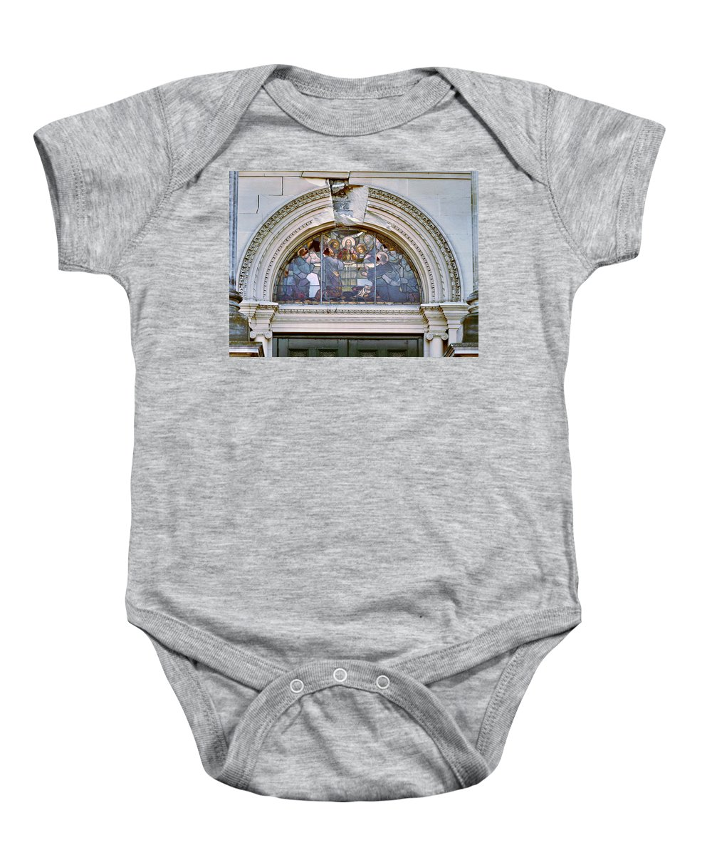 Cathedral Of The Blessed Sacrament Baby Onesie featuring the photograph The Last Supper by Steve Taylor