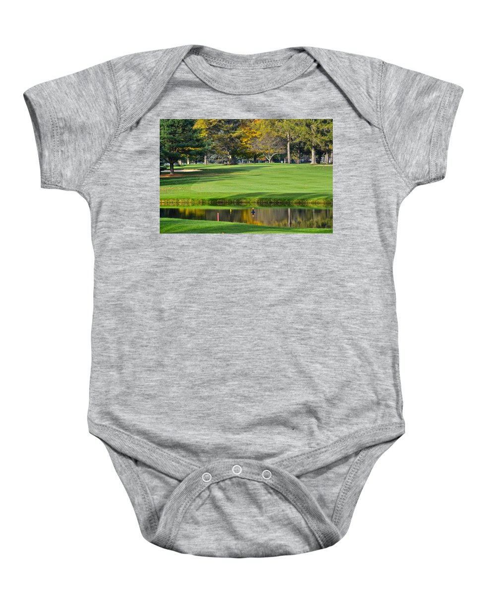 Tree Baby Onesie featuring the photograph The Layup by Frozen in Time Fine Art Photography