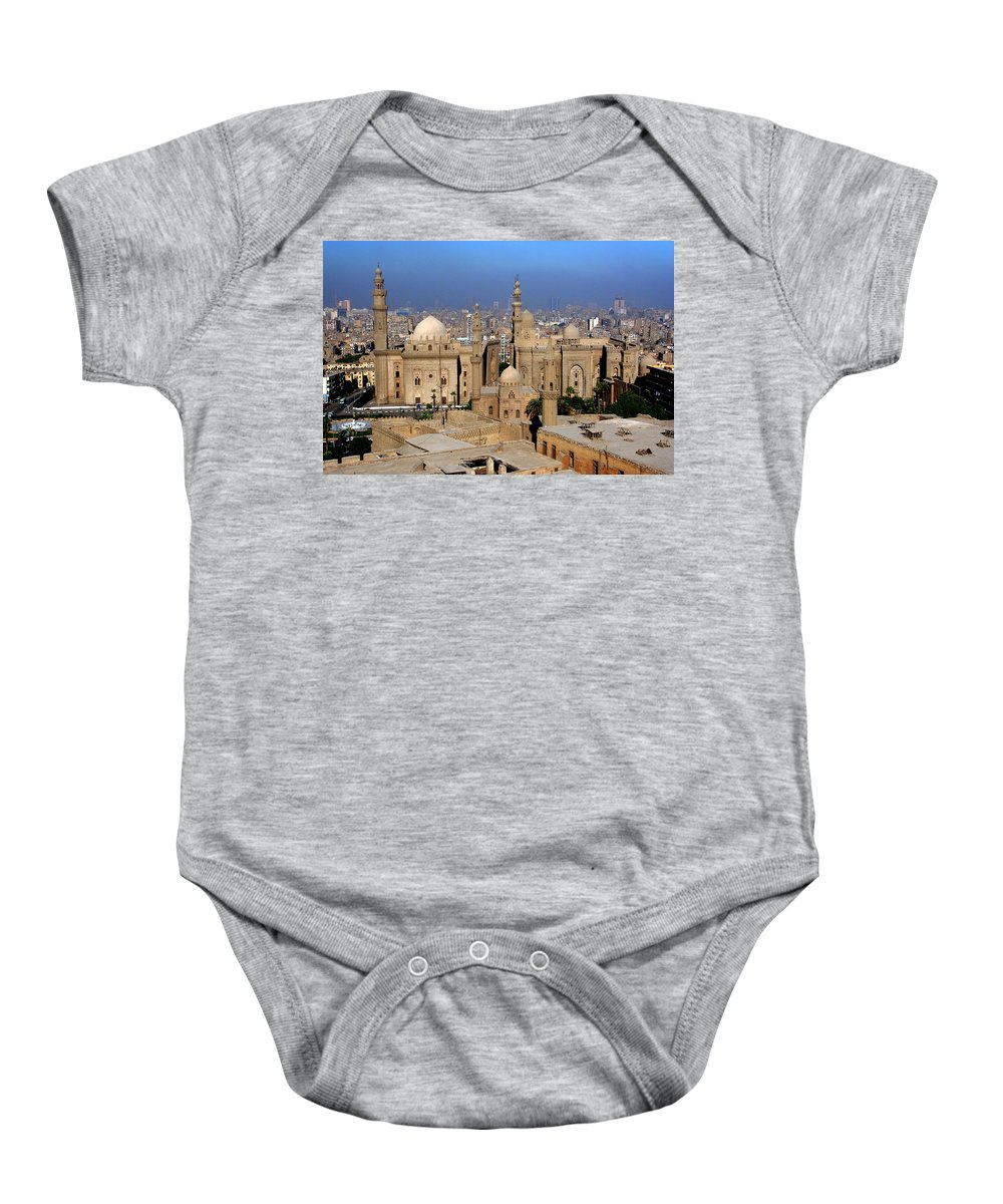 Mosque Baby Onesie featuring the photograph The Mosque Of Al-azhar by Laurel Talabere