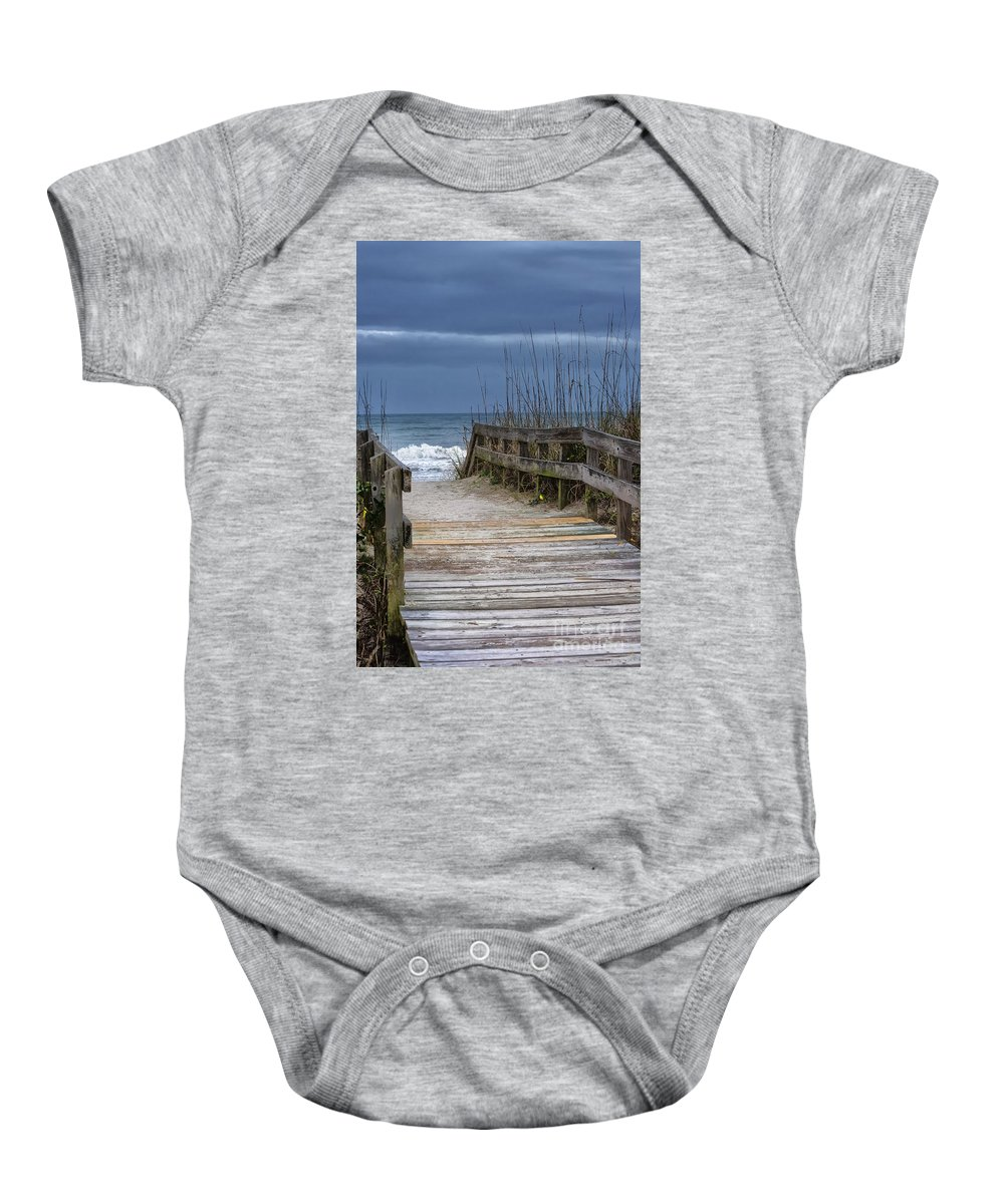 Beach Baby Onesie featuring the photograph The Old Walkway by Scott Hervieux