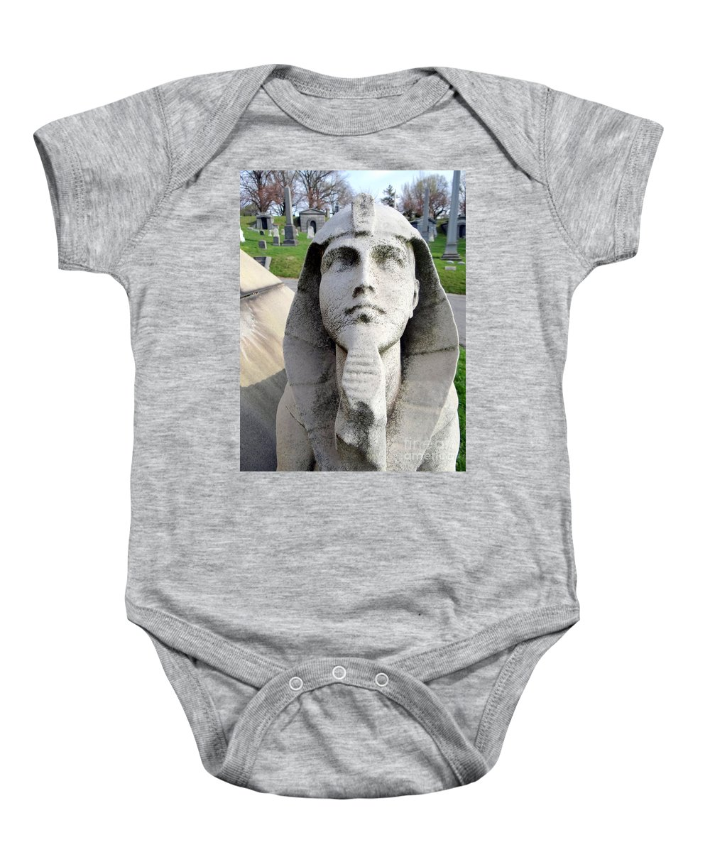 Stone Baby Onesie featuring the photograph The Pharaoh by Ed Weidman