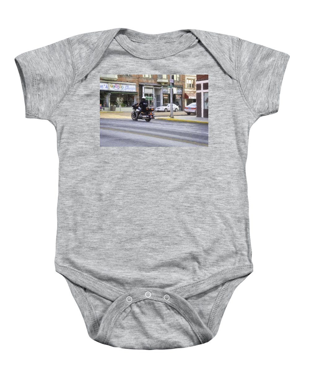 Butte Baby Onesie featuring the painting The Protection by Image Takers Photography LLC - Laura Morgan