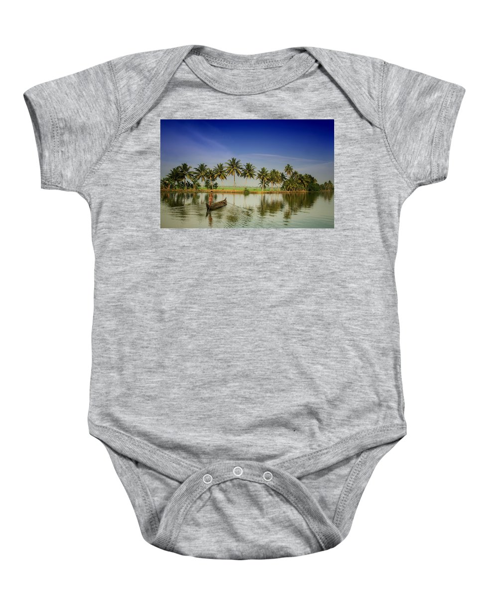 India Baby Onesie featuring the photograph The River Man by A Rey