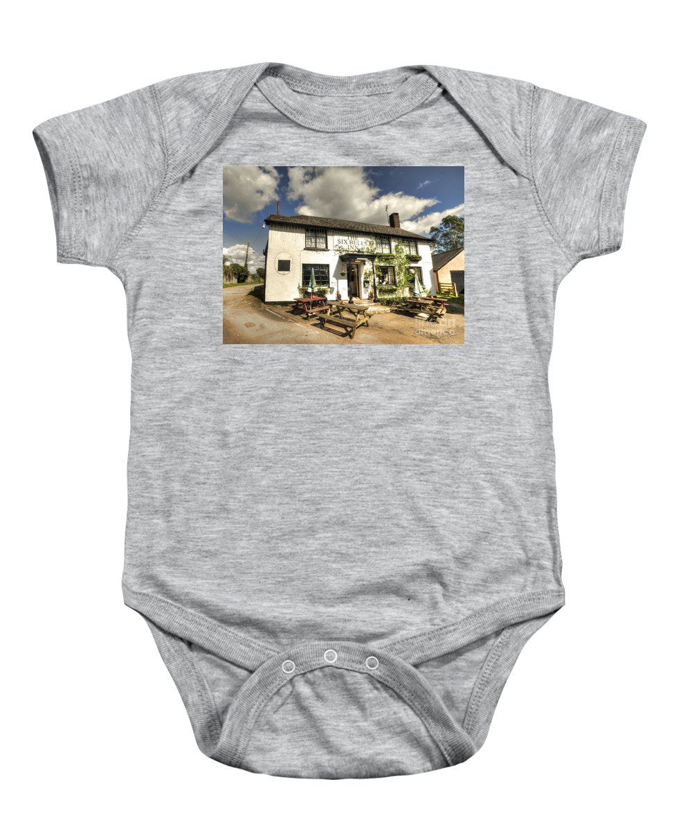 Six Baby Onesie featuring the photograph The Six Bells Of Payhembury by Rob Hawkins