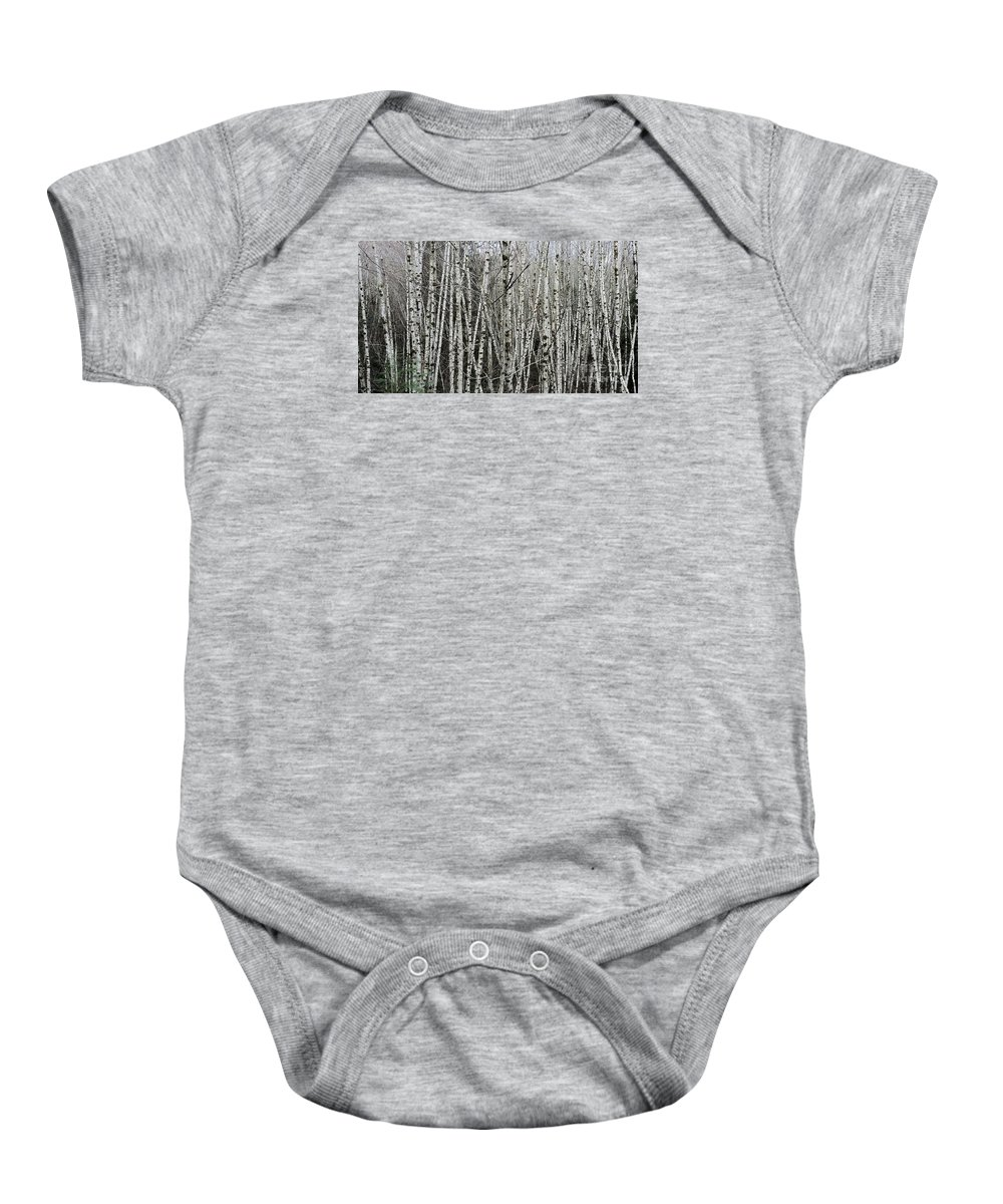 Trees Baby Onesie featuring the photograph The Thicket by Teresa A Lang