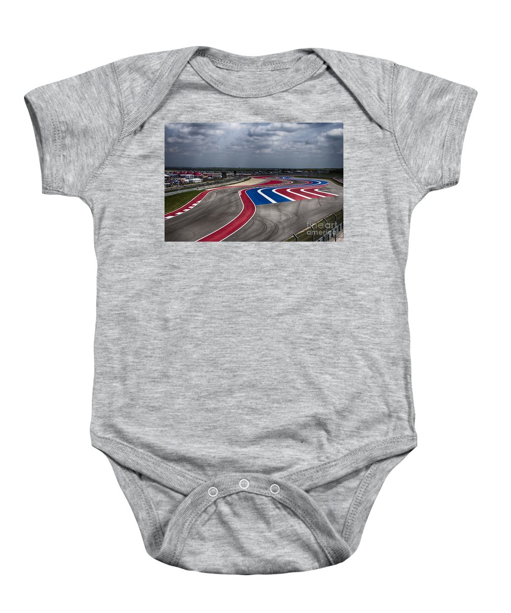 Motorcycle Baby Onesie featuring the photograph The Track by Douglas Barnard