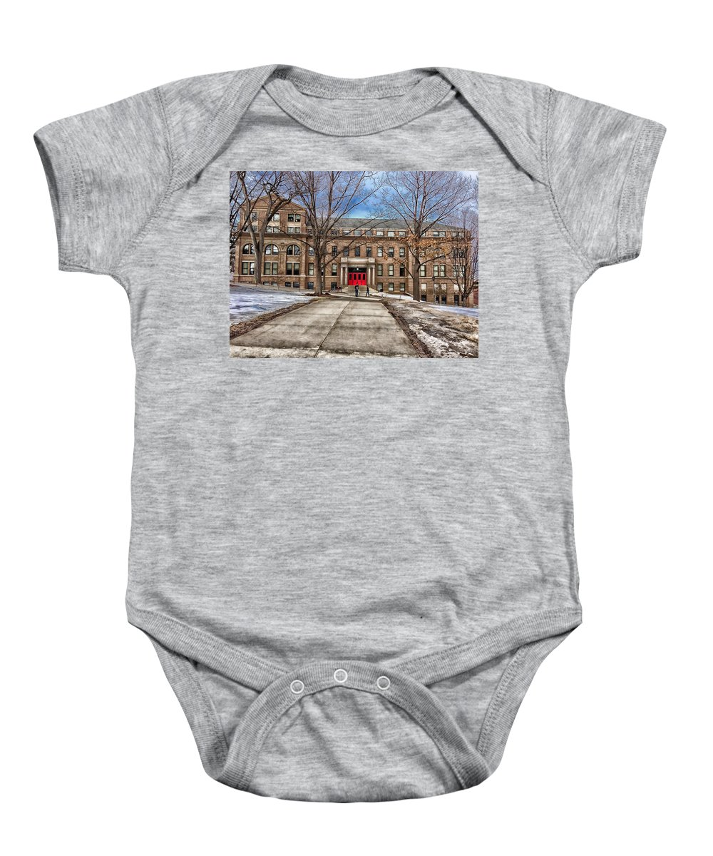 Madison Baby Onesie featuring the photograph The University Of Wisconsin Education Building by Pixabay