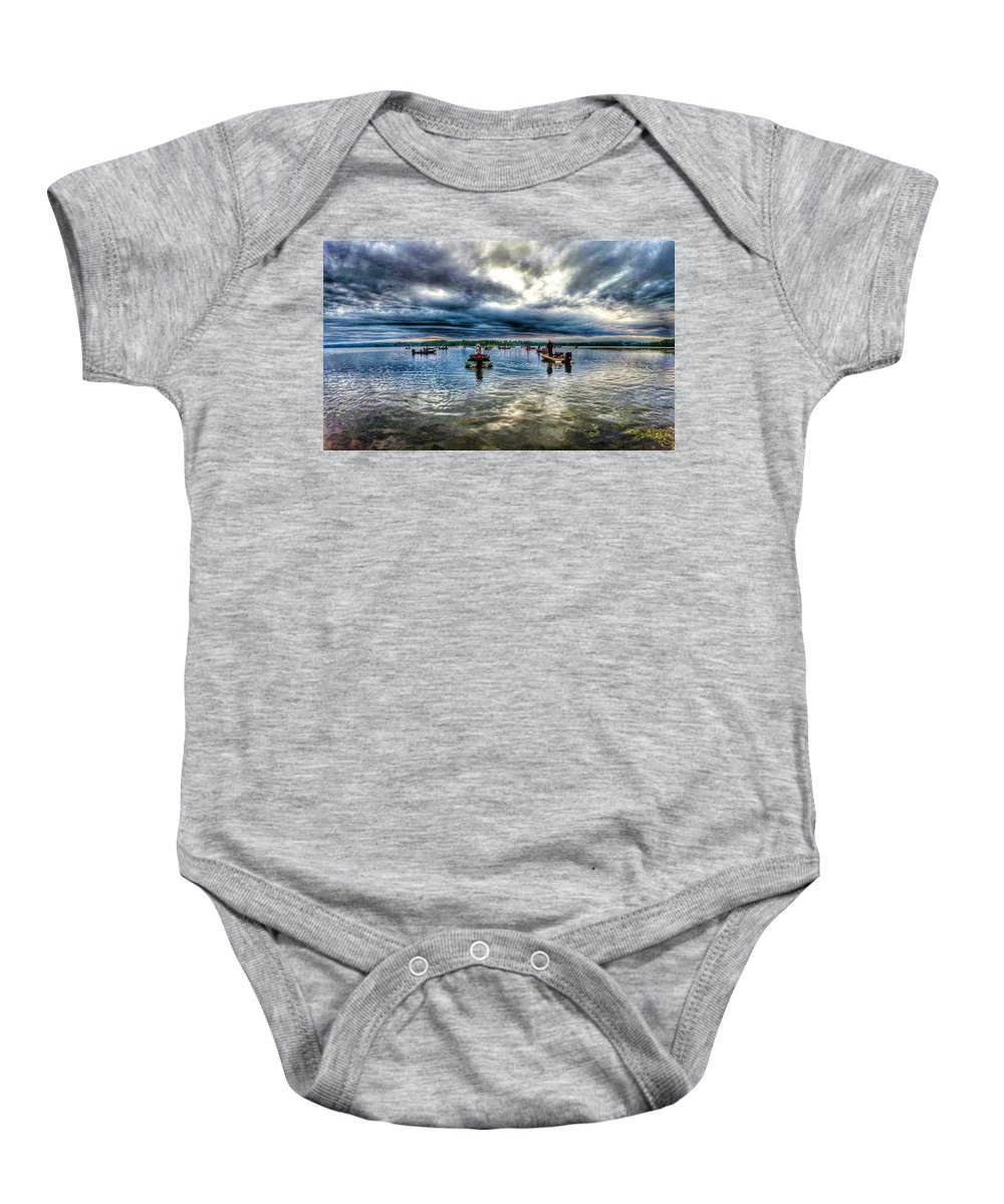 Lake Champlain Baby Onesie featuring the photograph The Wait To Launch by Erik Kaplan
