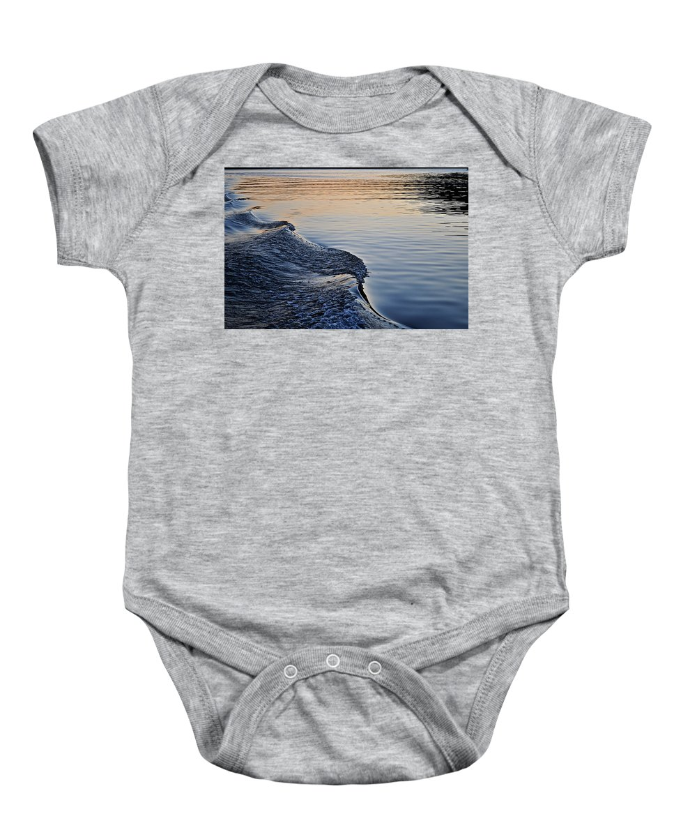 Wake Baby Onesie featuring the photograph The Wake by Photos By Cassandra