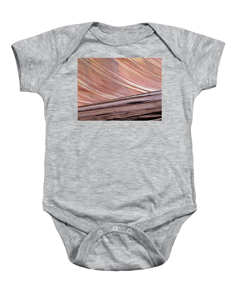 Landscape Baby Onesie featuring the photograph 'the Wave' North Coyote Buttes 02 by Jeff Brunton