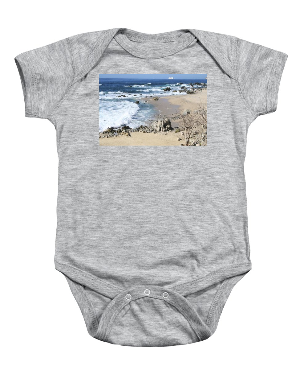 Sea Baby Onesie featuring the photograph The Waves - The Sea by Christy Gendalia