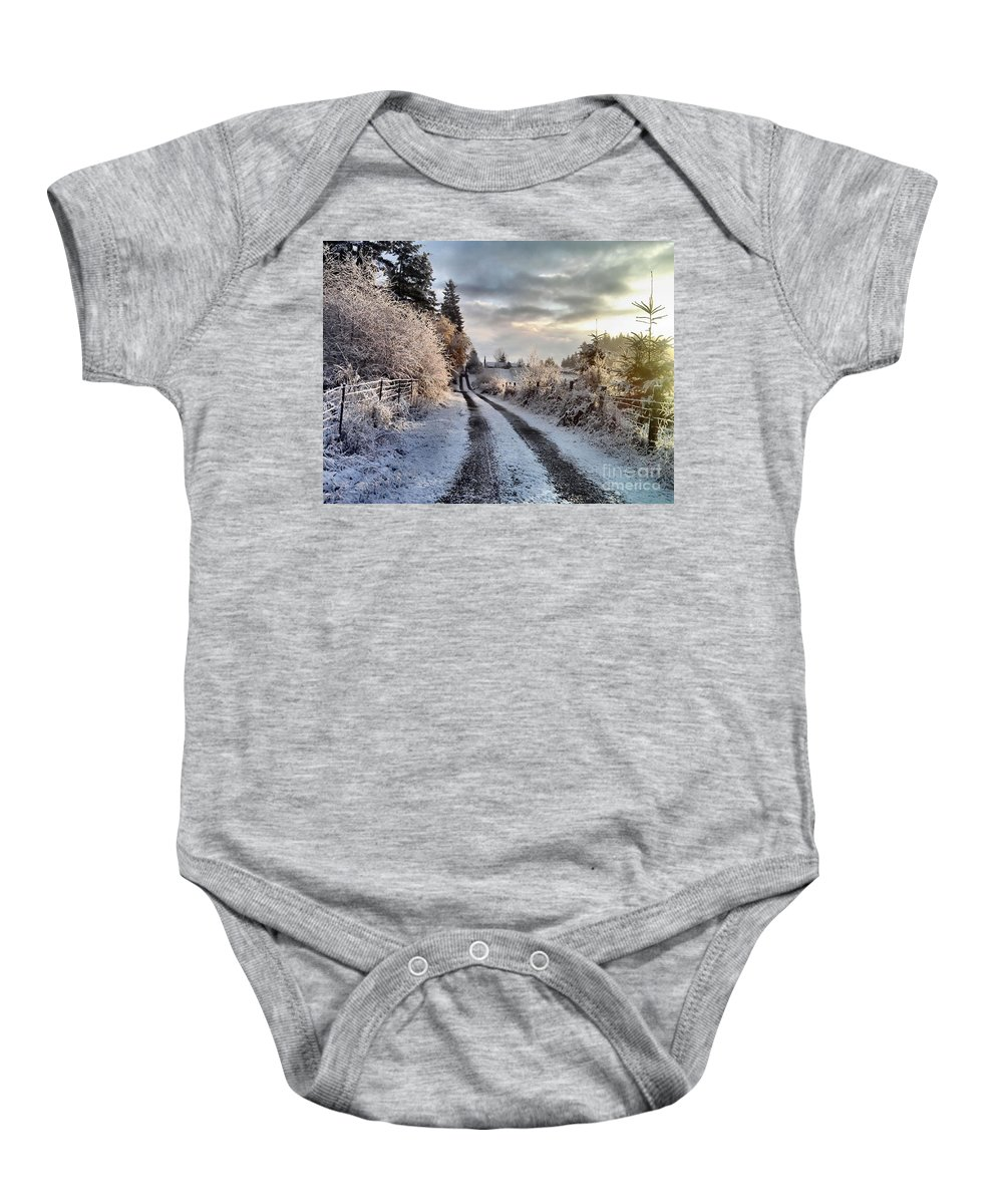 Landscape Baby Onesie featuring the photograph The Way Home by Rory Sagner