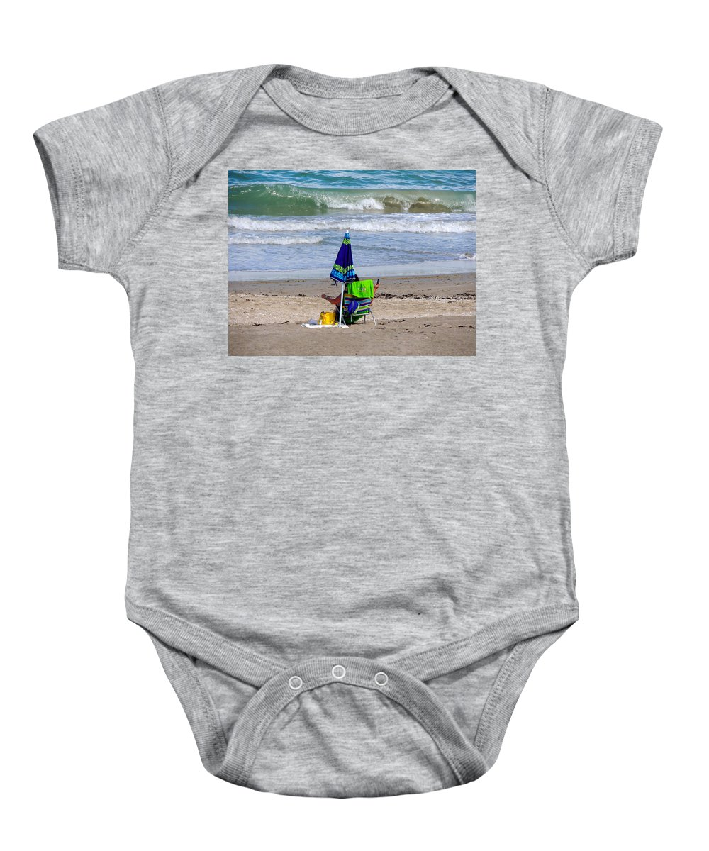 Beaches Baby Onesie featuring the photograph This Is A Recording by Marilyn Holkham