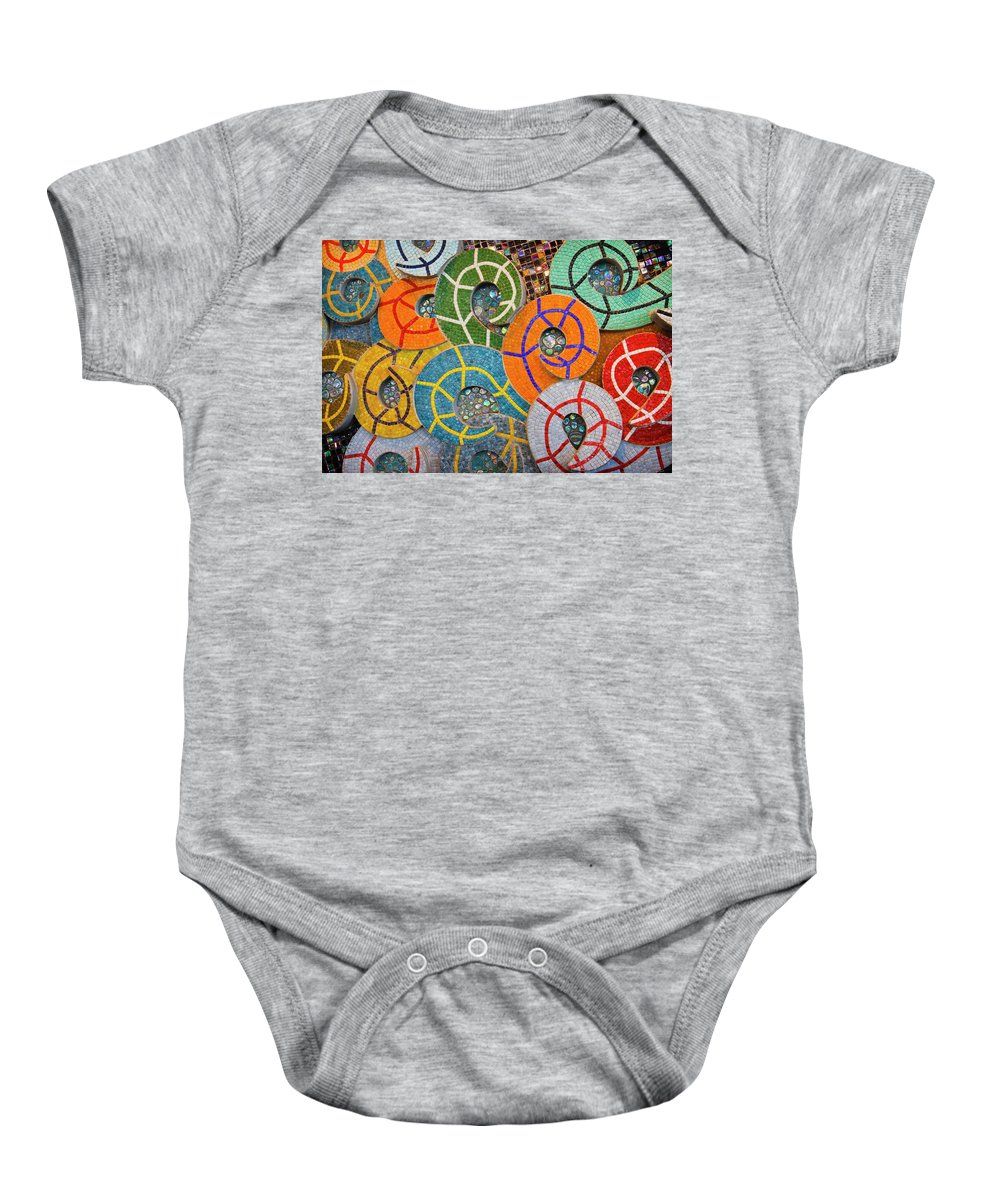 3scape Photos Baby Onesie featuring the photograph Tiled Swirls by Adam Romanowicz