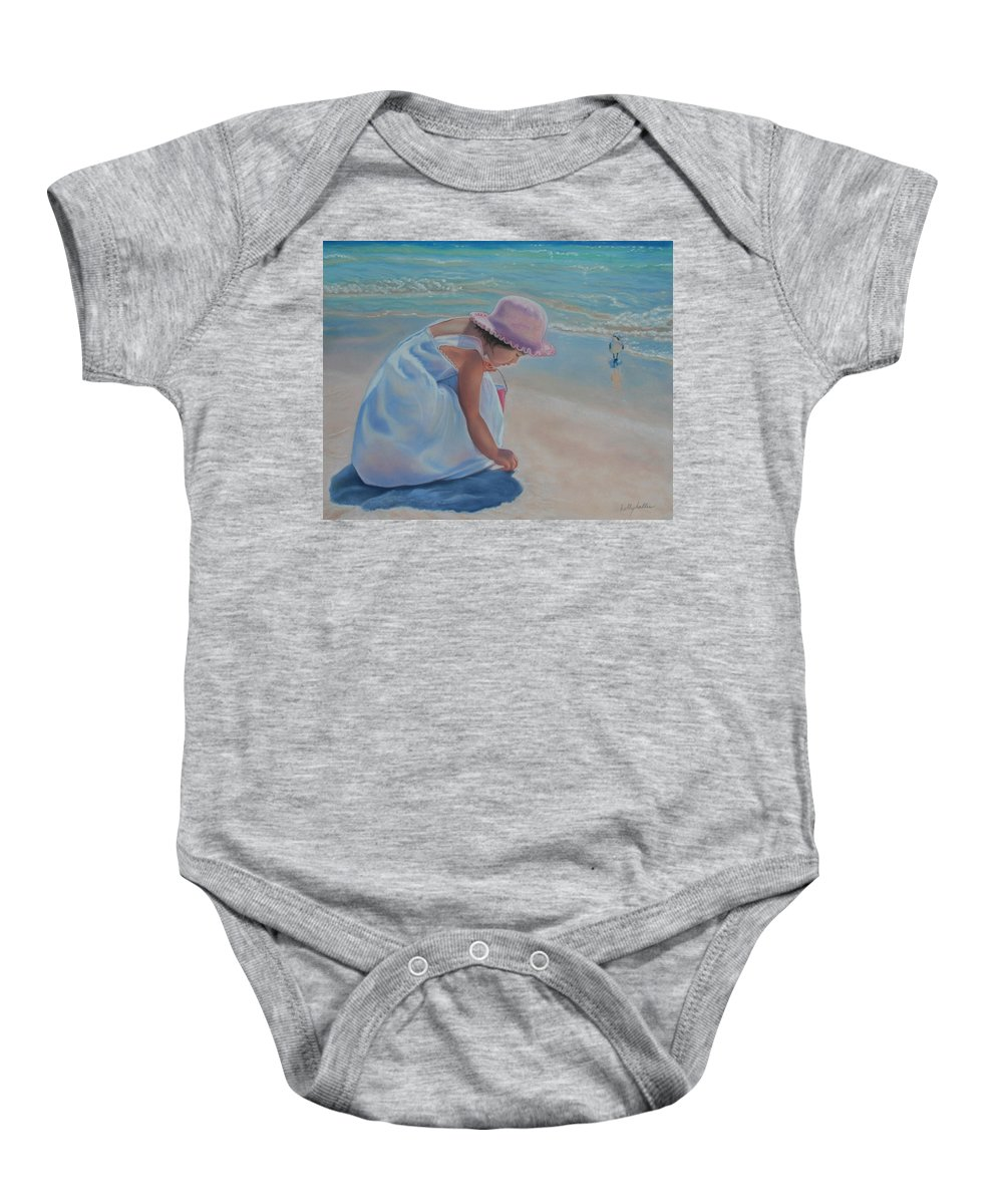Realistic Baby Onesie featuring the pastel Time For Treasures by Holly Kallie