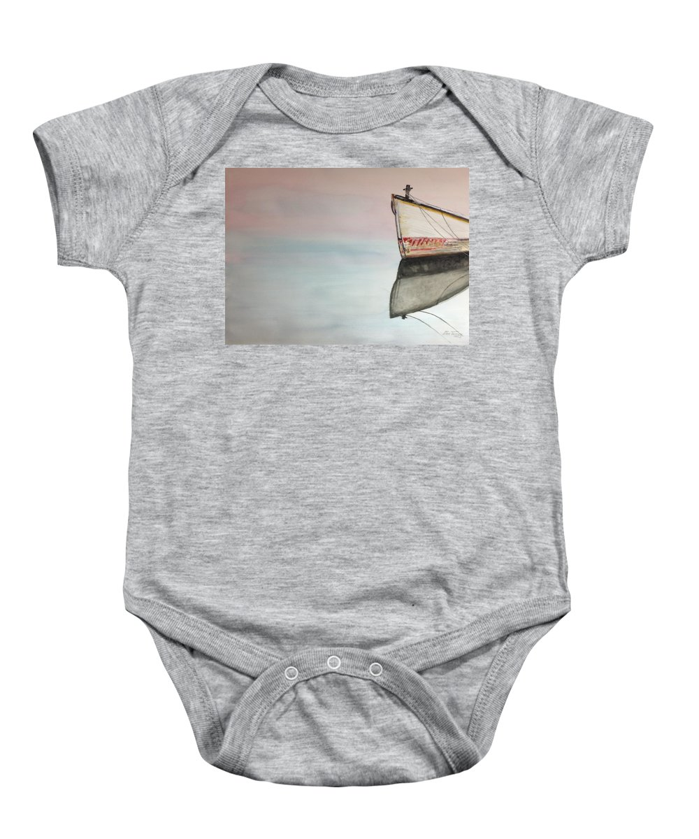 Reflection Baby Onesie featuring the painting Tim's Ghost by Stan Tenney