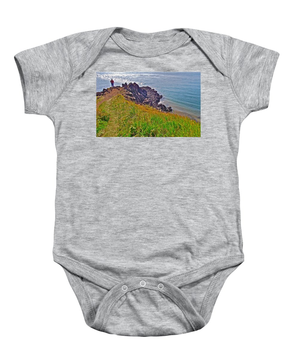 Tip Of Cape D'or Baby Onesie featuring the photograph Tip Of Cape D'or-ns by Ruth Hager
