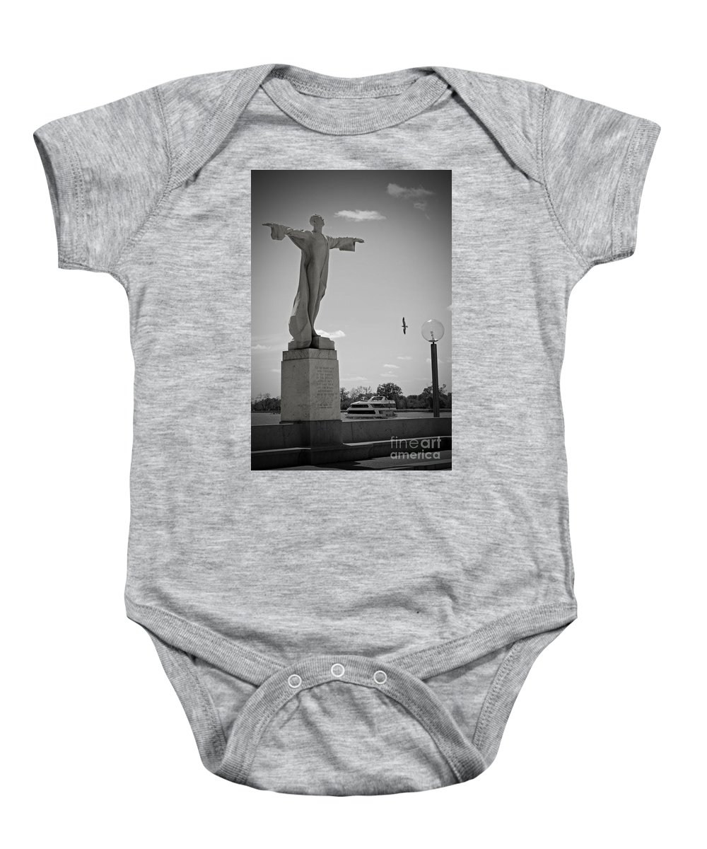 Titanic Baby Onesie featuring the photograph Titanic Memorial by Jost Houk