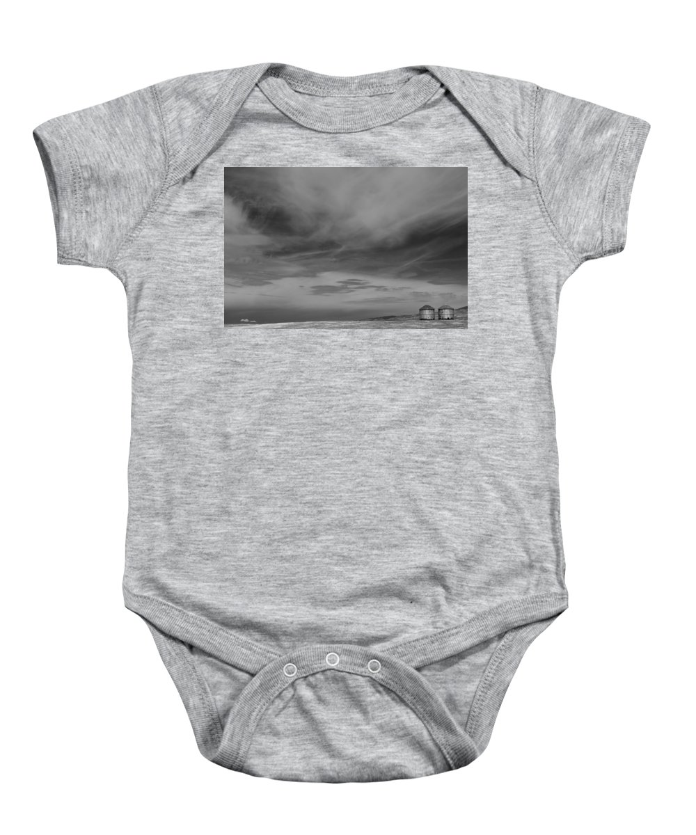 Carrizo Plain National Monument Baby Onesie featuring the photograph Together by Mike Herdering