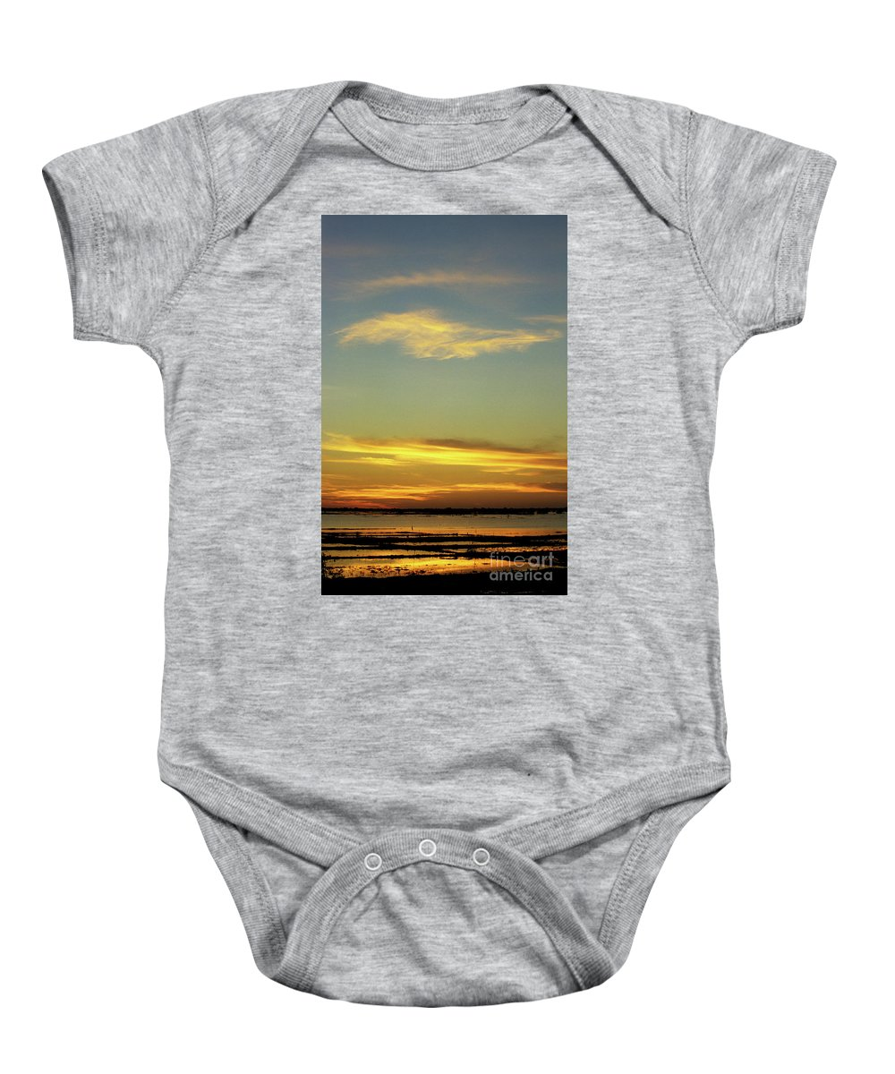 Cambodia Baby Onesie featuring the photograph Tonle Sap Sunrise 03 by Rick Piper Photography