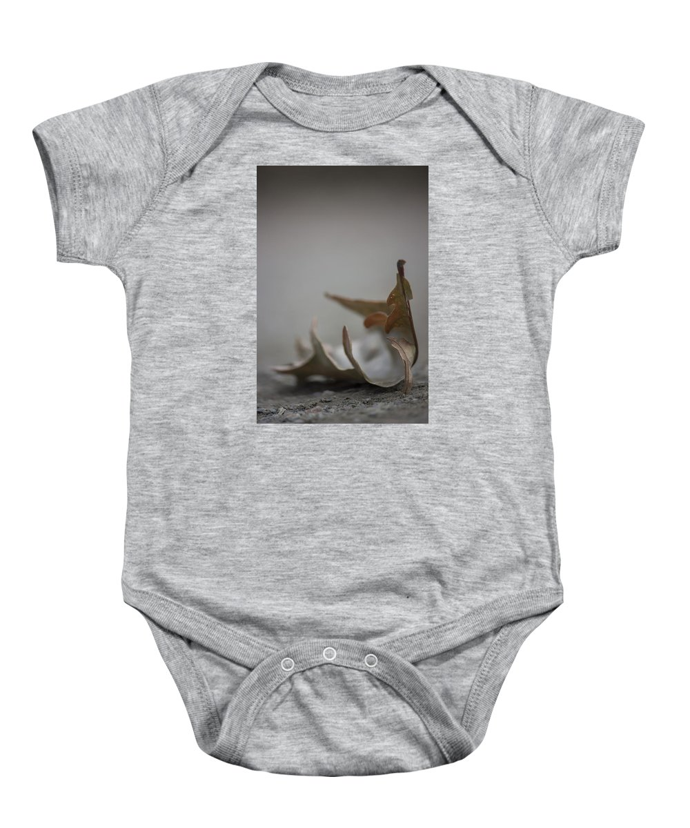 Leaf Baby Onesie featuring the photograph Fallen by Becca Buecher