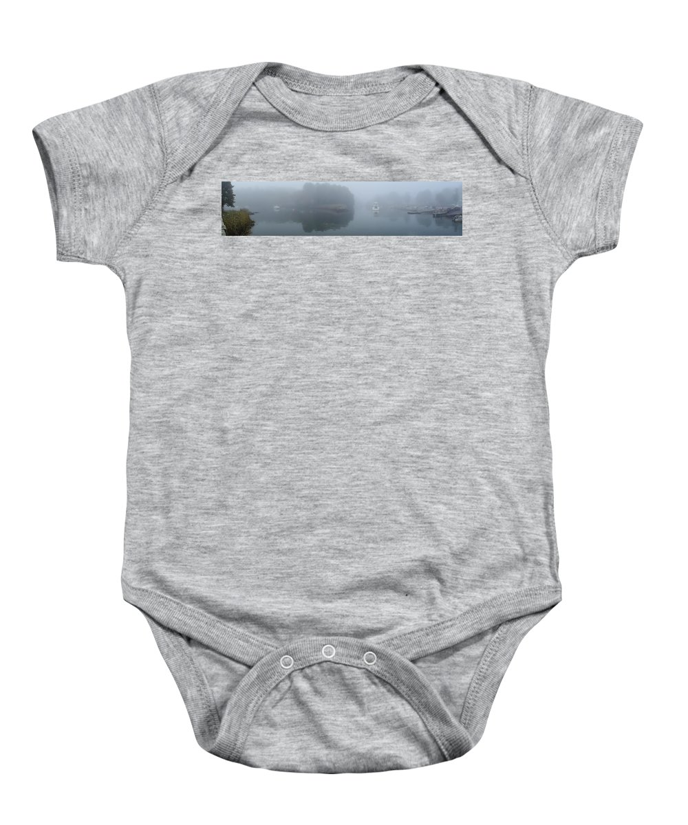 Ipswich Baby Onesie featuring the photograph Town Landing Morning by David Stone