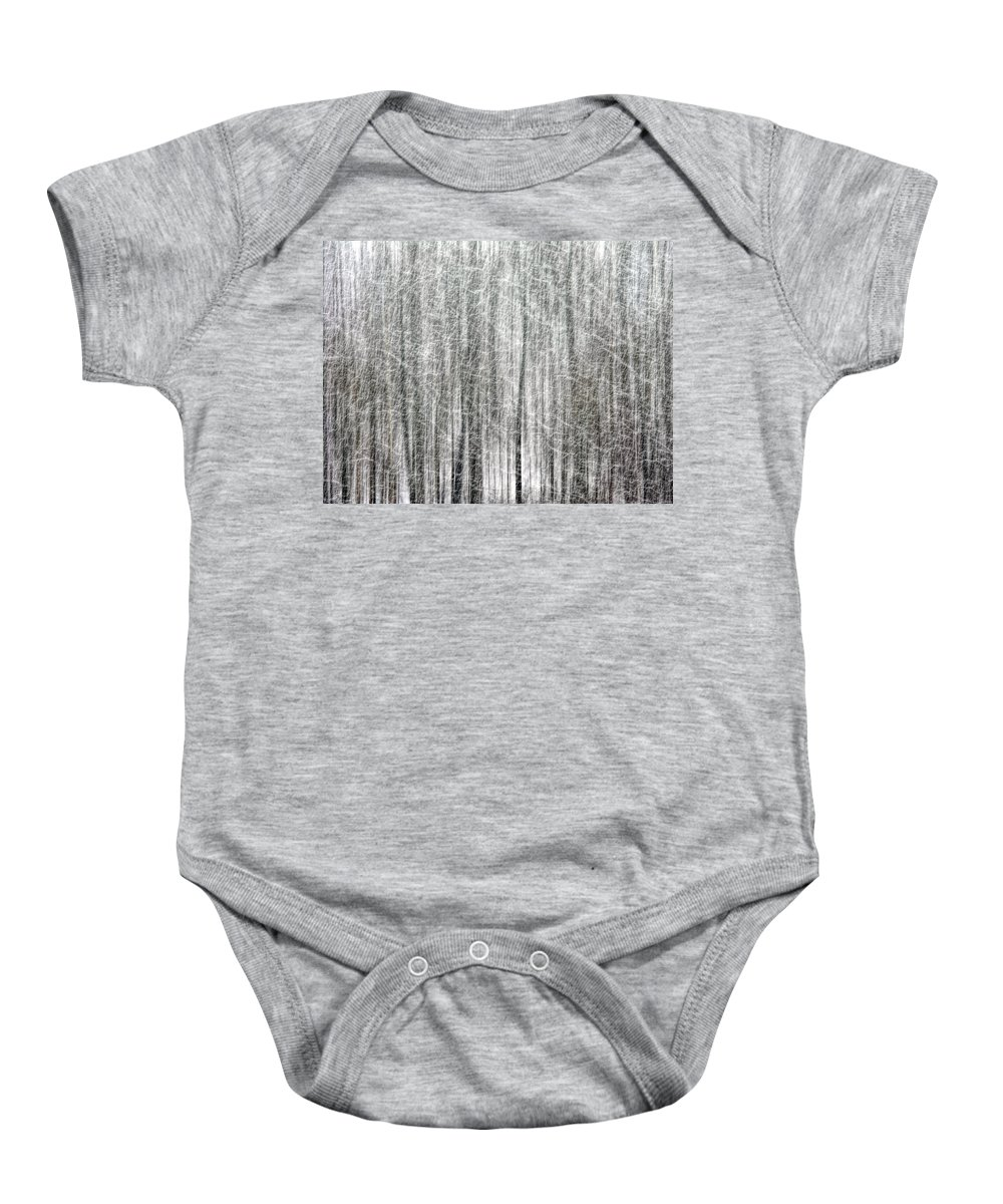C&o Canal Baby Onesie featuring the photograph C And O Towpath Blizzard by Francis Sullivan