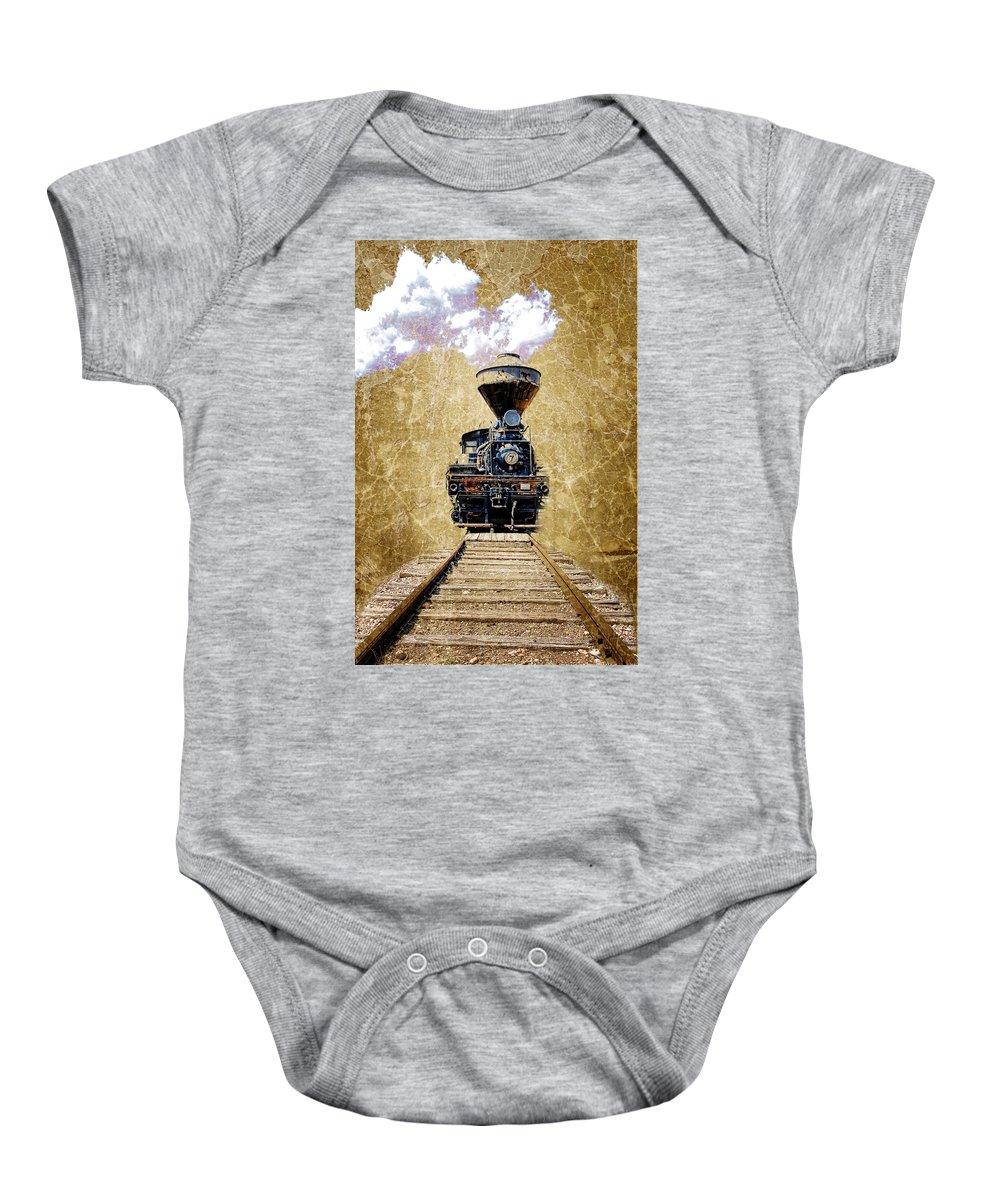 Train Baby Onesie featuring the photograph Train by Steve McKinzie
