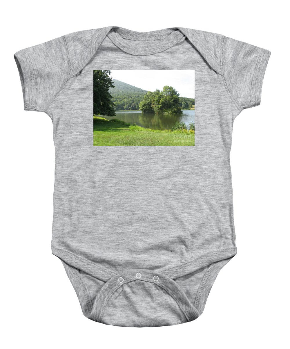 Lake Baby Onesie featuring the photograph Tranquillity by Christiane Schulze Art And Photography