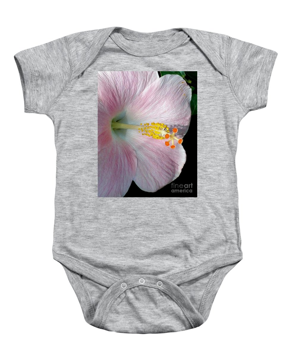Photography Baby Onesie featuring the photograph Tropical Hibiscus by Kaye Menner