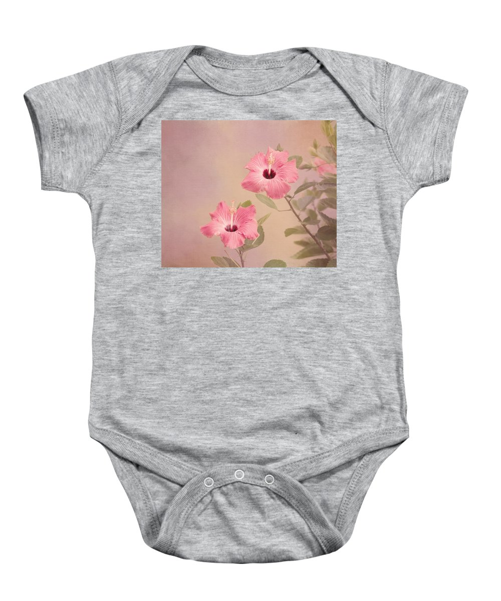 Pink Flower Baby Onesie featuring the photograph Tropical Hibiscus by Kim Hojnacki